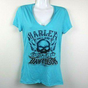 Harley Davidson Women Blouse Short Sleeve Aurora